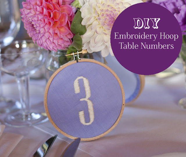 embroidery hoop table number DIY tutorial