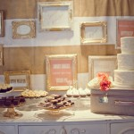 peach & pink malibu wedding | dessert display by my sweet and saucy shop