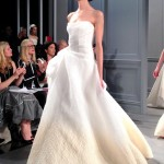 wedding dresses by monique lhullier spring 2014 collection ombré blush and white dress