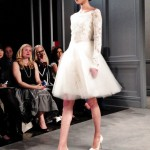 wedding dresses by monique lhullier spring 2014 collection short party dress