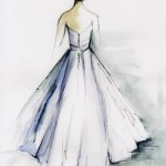 bridal gown painting from Diane Bronstein