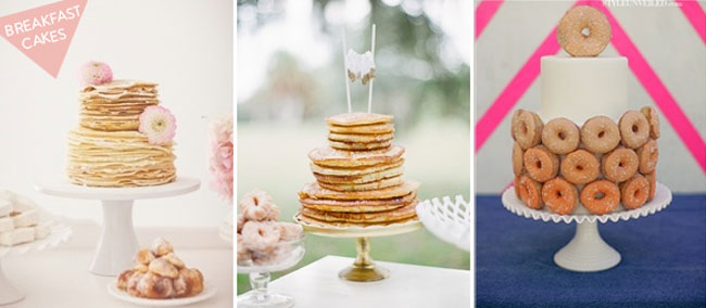breakfast wedding cakes