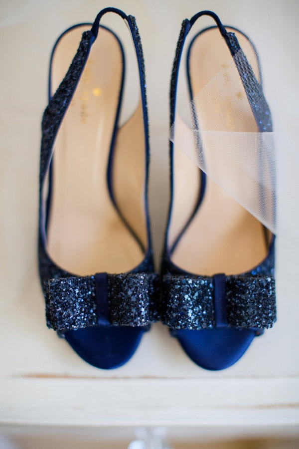 indigo blue glitter kate spade heels