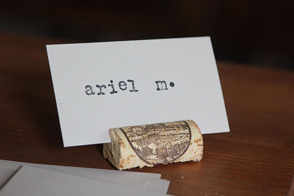 DIY Cork Placecard Holders   Oh Lovely Day