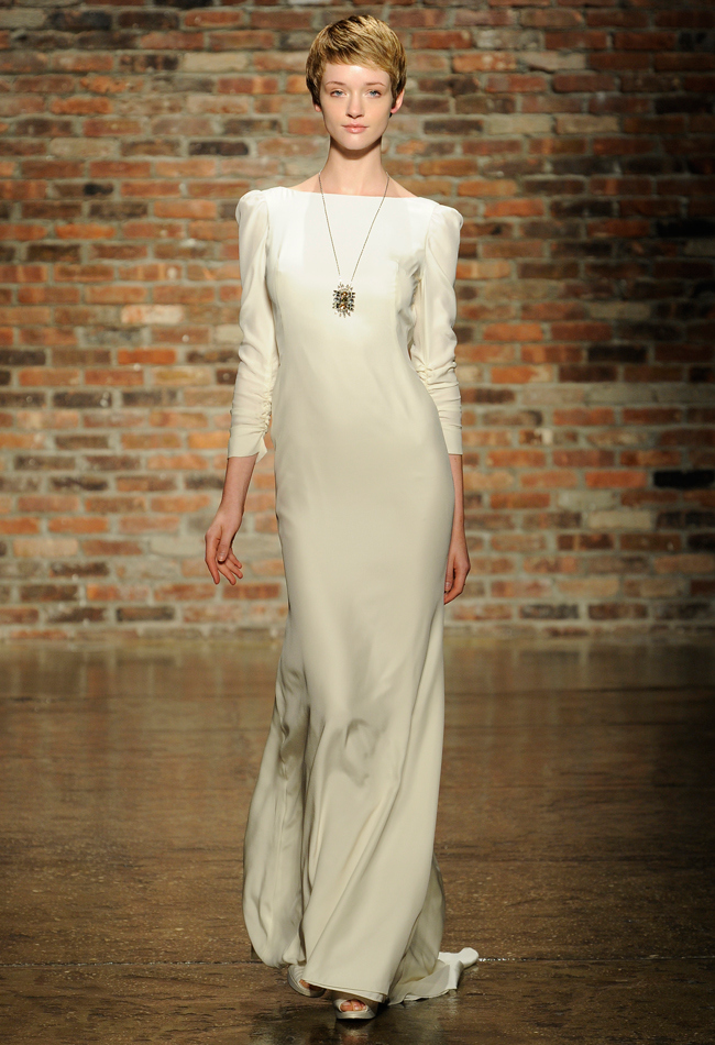 Hayley paige bridal gown oh lovely day for Postpartum dresses for wedding