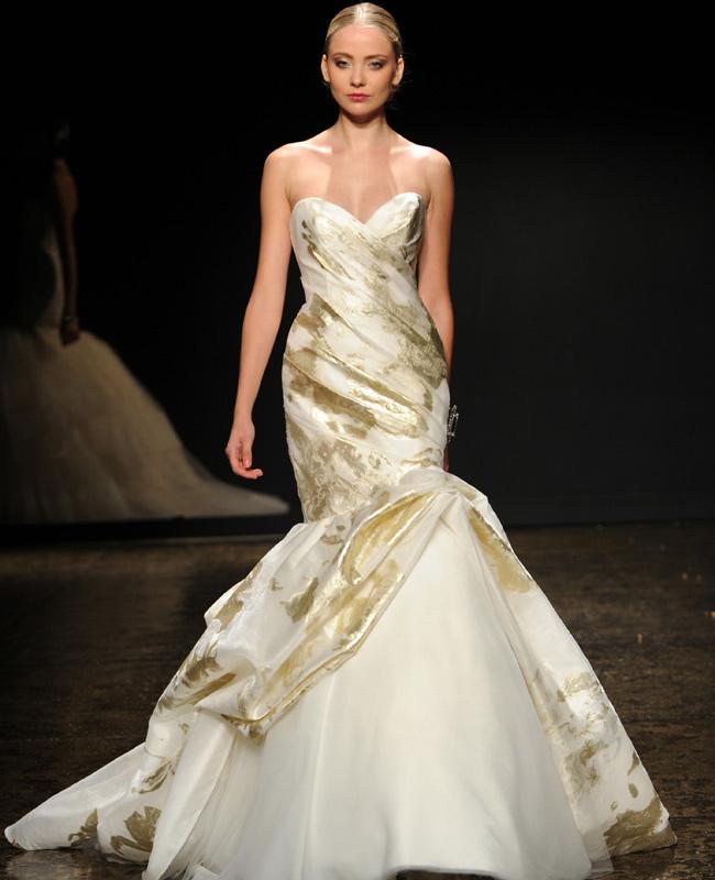 Lazaro Gilded Bridal Gown