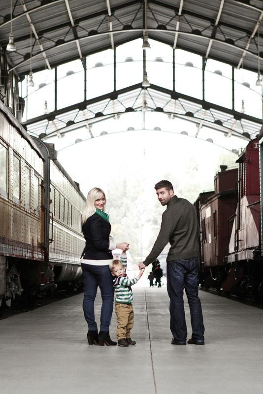 family photo shoot at train station on oh lovely day