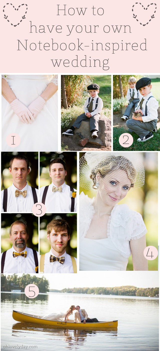 5 Steps to have your own Notebook-inspired wedding | Oh Lovely Day