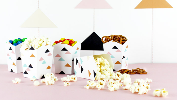 DIY Modern Geometric Party Decor + Printables   Lupa & Pepi on Oh Lovely Day