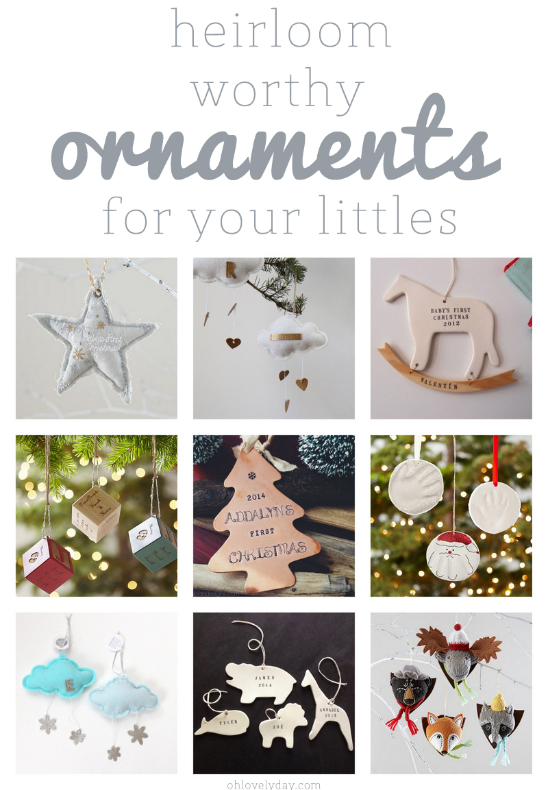 ornaments for kids and baby's first christmas | Oh Lovely Day