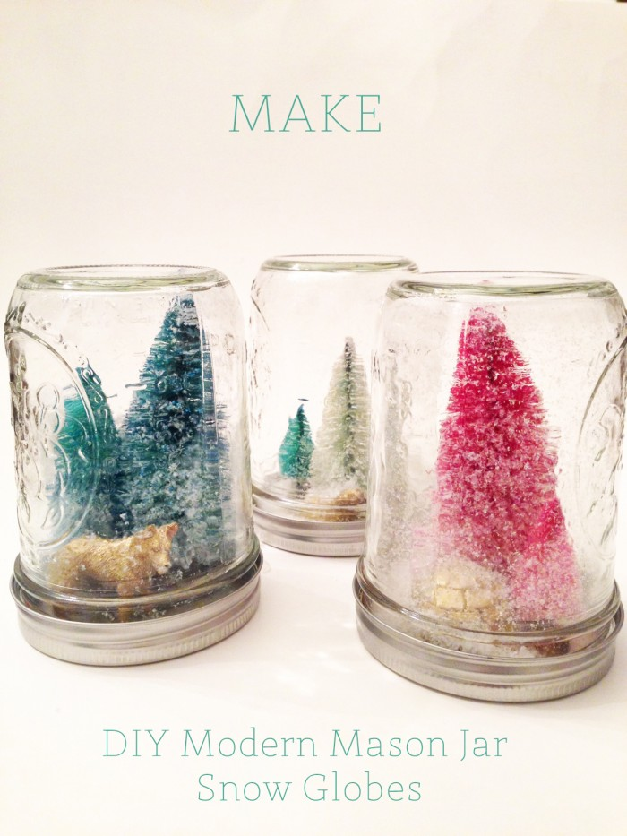 Diy Modern Mason Jar Snow Globe Oh Lovely Day Chandra Fredrick