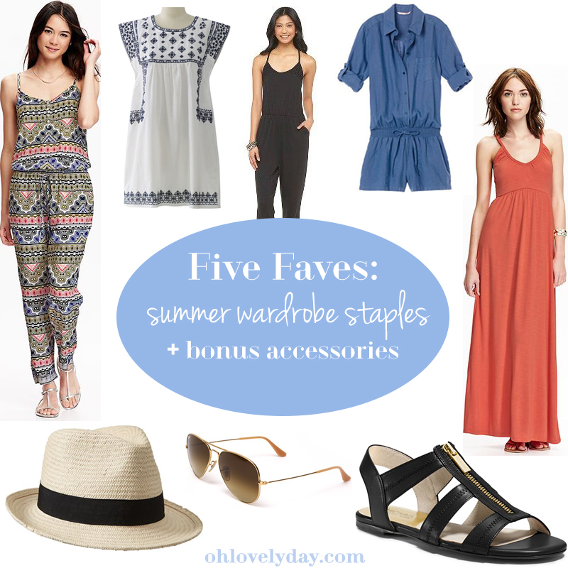 Five Favorites: Summer Wardrobe Staples and Accessories | Oh Lovely Day