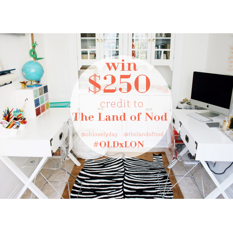 250 giveaway to the land of nod oh lovely day for Land of nod recipe