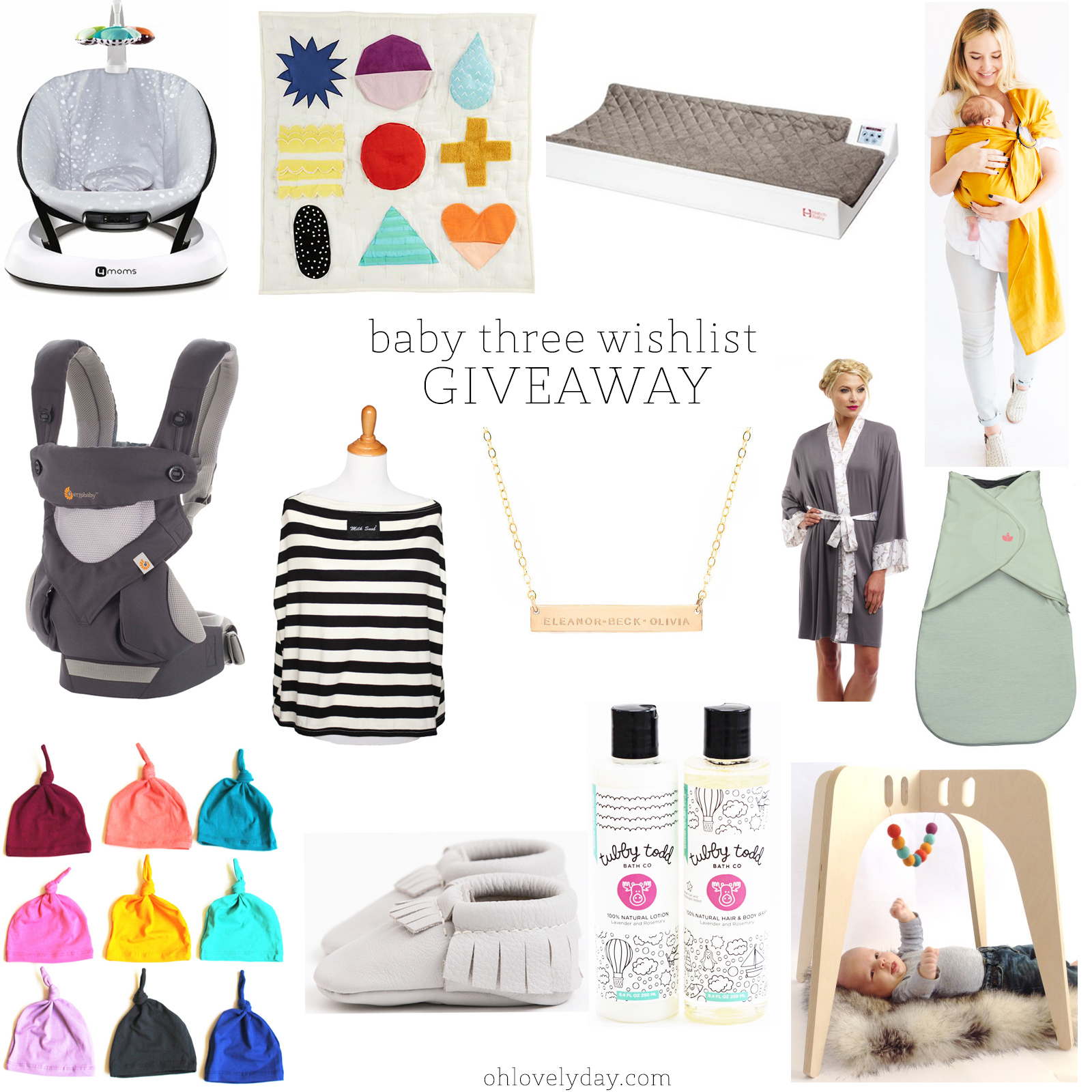 baby product wishlist for baby three + GIVEAWAY   Oh Lovely Day