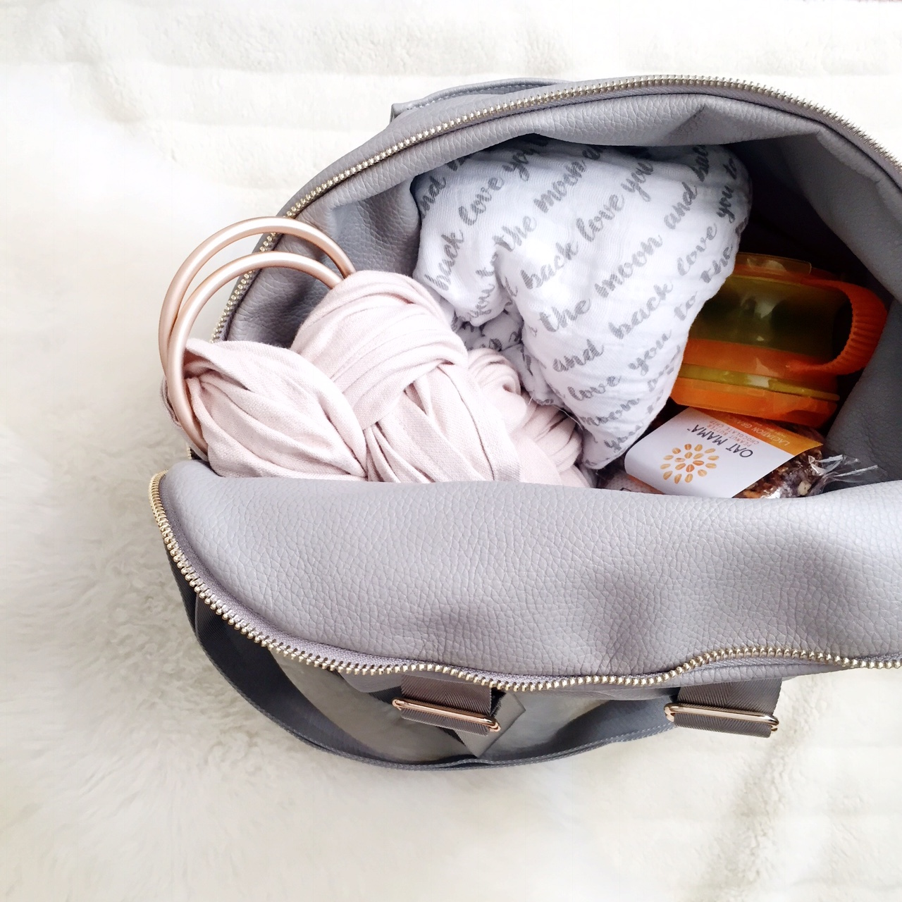 oh lovely day diaper bag and contents