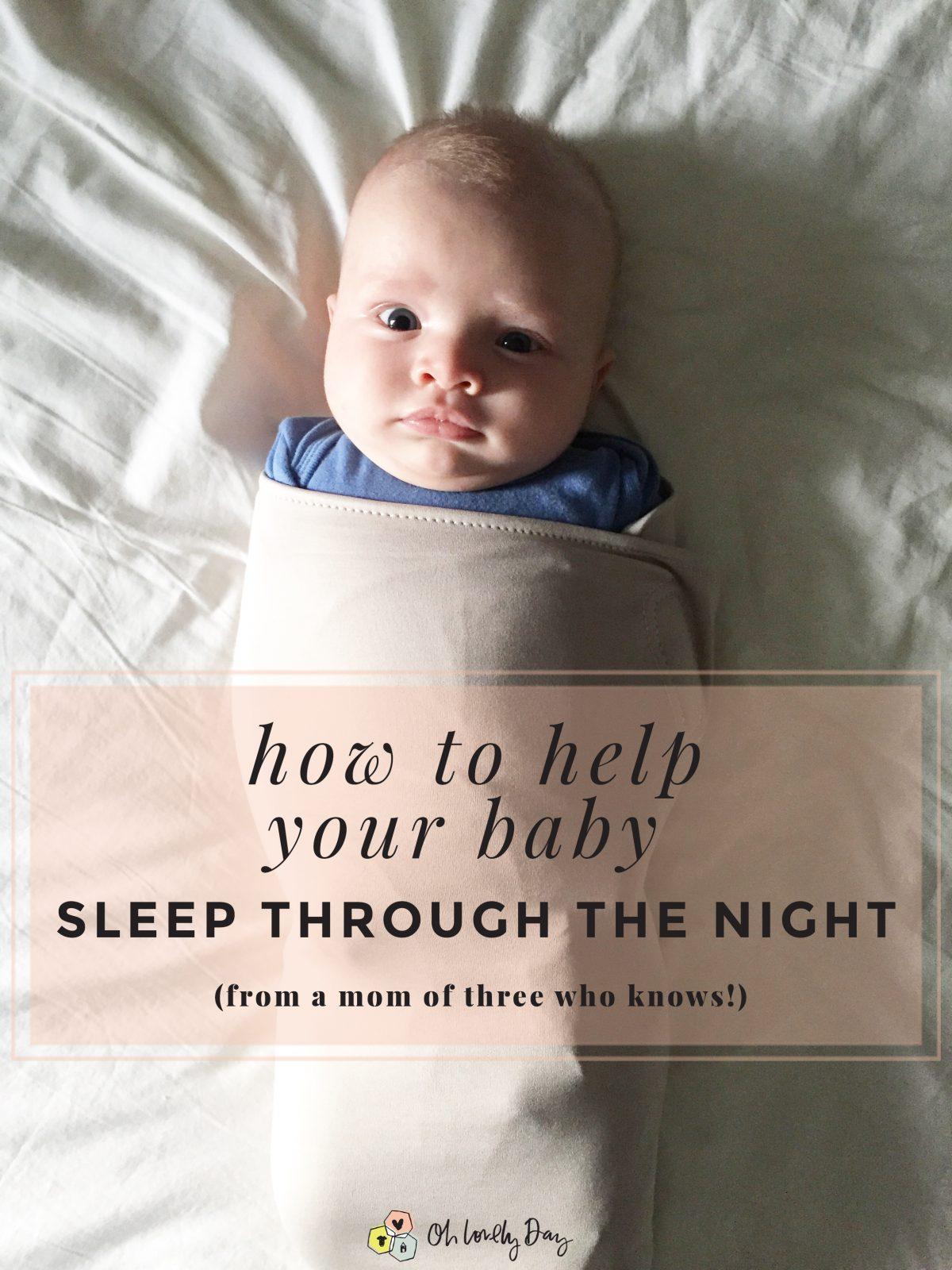 how to help baby sleep through the night