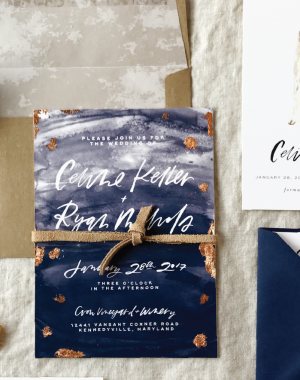 Paper goods from Little Bit Heart: Custom Wedding Invitations, Save-the-Dates, birth announcements, custom illustrations + more