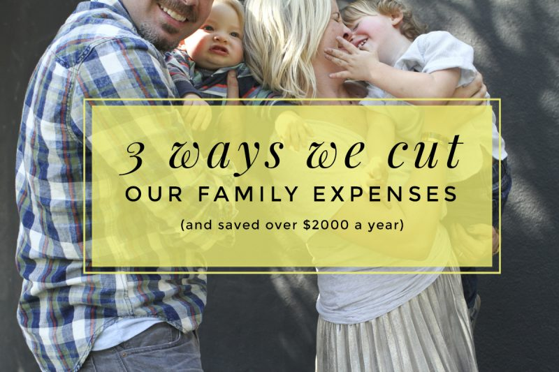 ways to cut family expenses
