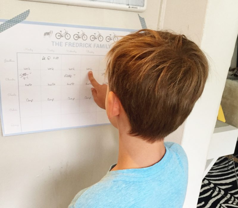 Organizing the Family Schedule With Pickett's Press