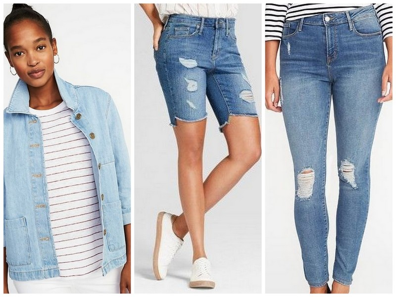 Denim essentials: denim jacket, the perfect cut offs, and distressed jeans | Spring/Summer capsule wardrobe | ohlovelyday.com