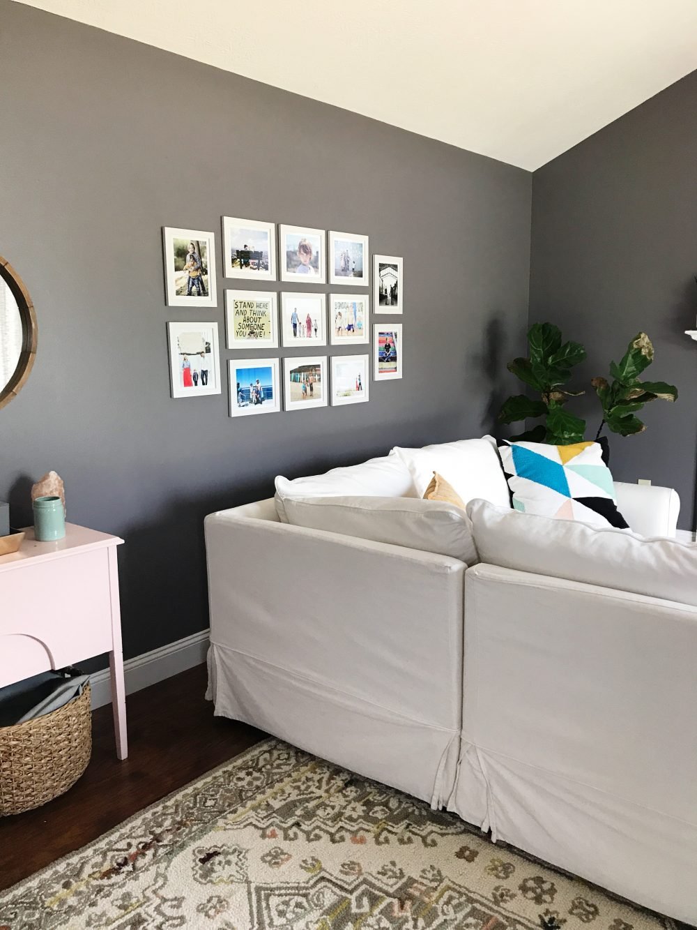 Sharing how I finally got our family photos of my devices and onto our walls + tips for creating your own gallery walls with Artifact Uprising | ohlovelyday.com