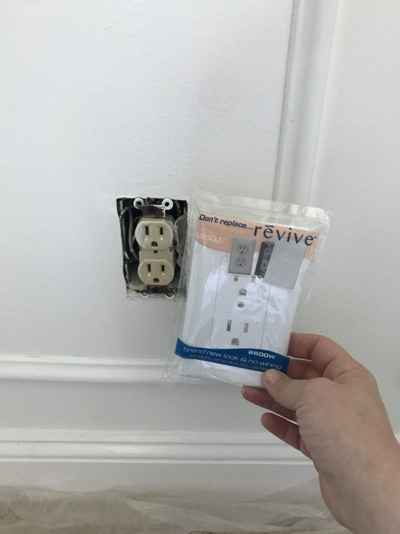 Sharing our dining room updates so far, with some DIY wainscoting and a little paint   Swap out outlet covers   ohlovelyday.com