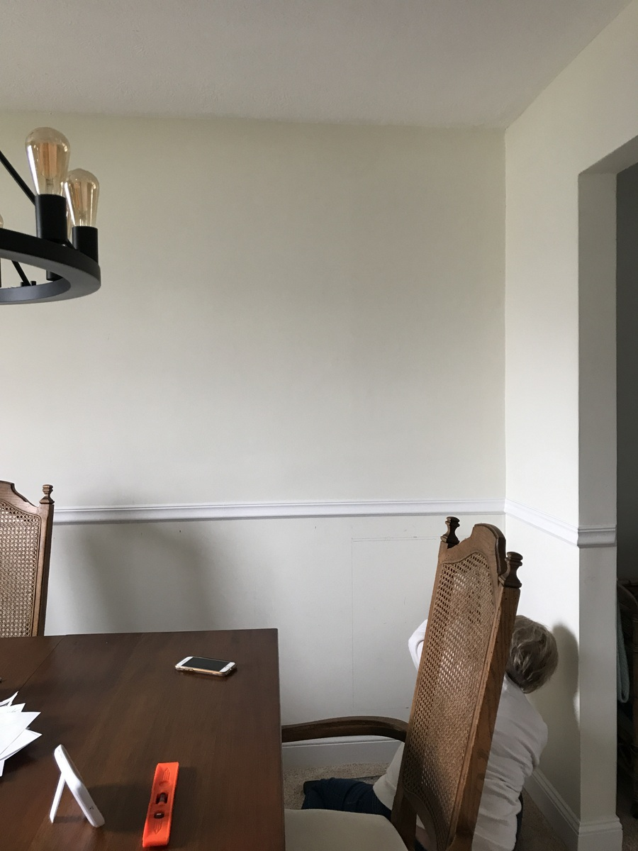 Sharing our dining room updates so far, with some DIY wainscoting and a little paint   ohlovelyday.com