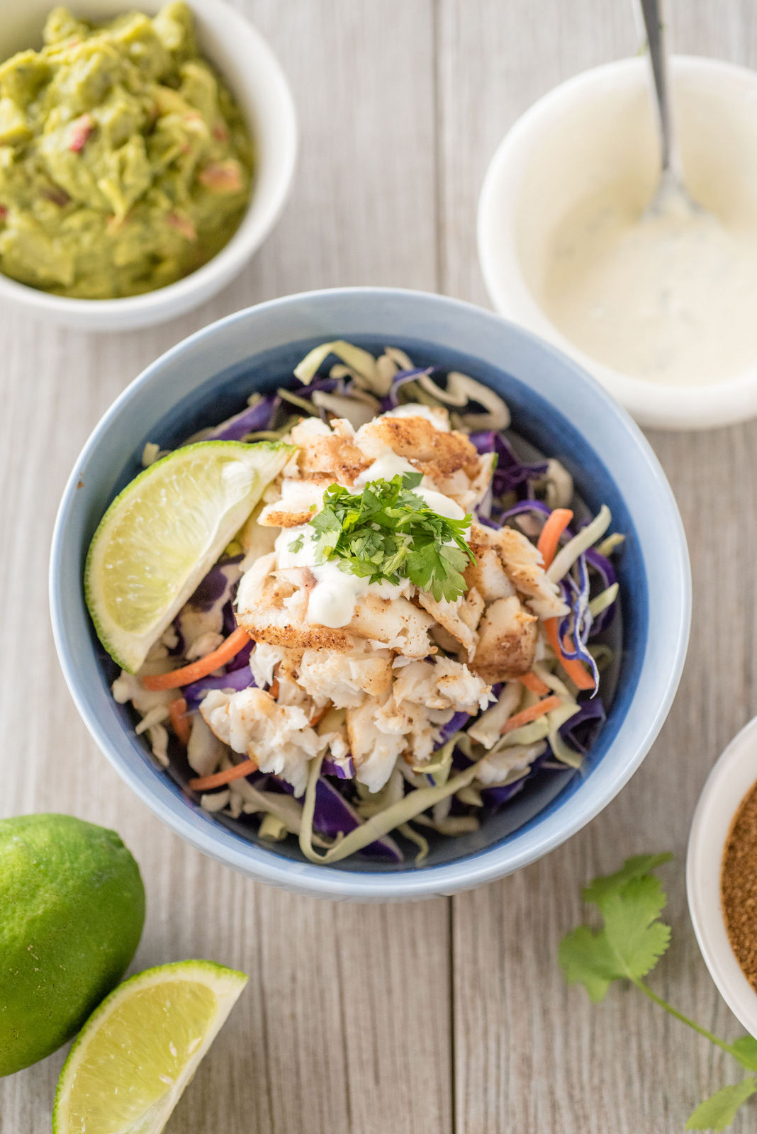 Fresh + Healthy Fish Taco Bowls: paleo-friendly and FWTFL compliant