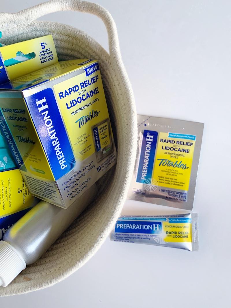 Creating a postpartum bathroom survival kit